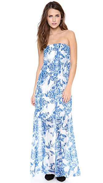 alice + olivia Kiernan Strapless Maxi Dress