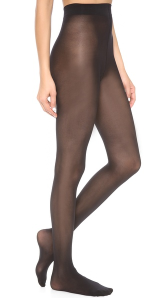 Alice + Olivia Super Lovely 40D Opaque Tights - Black at Shopbop / East Dane