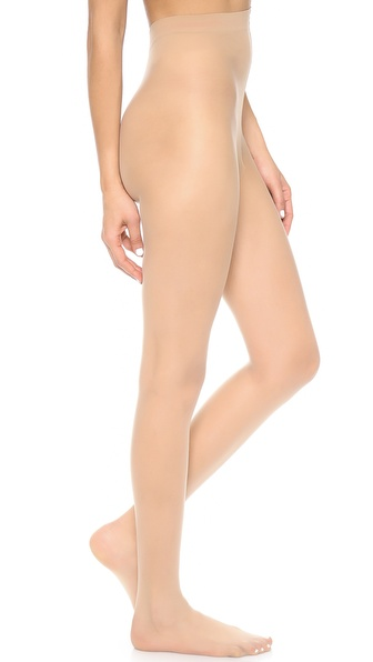 Alice + Olivia Super Lovely 10D Matt Run Resist Tights - Nude at Shopbop / East Dane