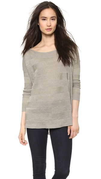 Alice + Olivia Javi Off The Shoulder Sweater - Grey at Shopbop / East Dane