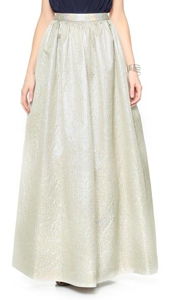 alice + olivia Metallic Ball Skirt