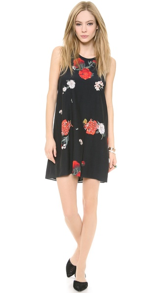 alice + olivia Liz Twist Back Dress