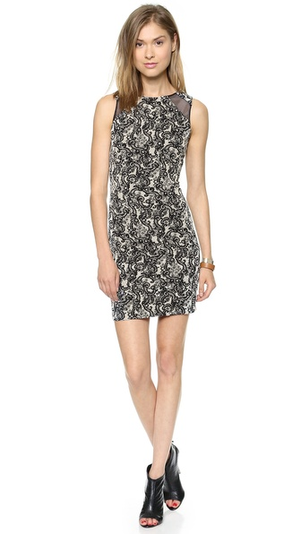 alice + olivia Thalia Shoulder Cutout Shift Dress