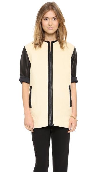 alice + olivia Structured Drop Shoulder Coat