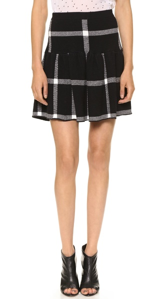 alice + olivia Kimbra Drop Waist Skirt