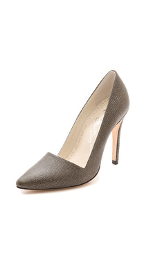 alice + olivia Dina Glitter Embossed Pumps