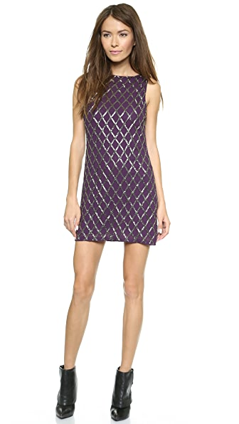 alice + olivia Dalyla Beaded A Line Dress