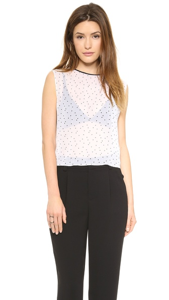 alice + olivia Polka Dot Top