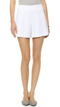 alice + olivia Highwaisted Pleated Flutter Shorts