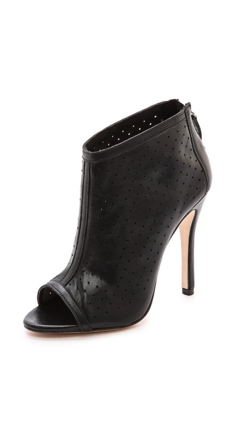 alice + olivia Gerri Peep Toe Booties