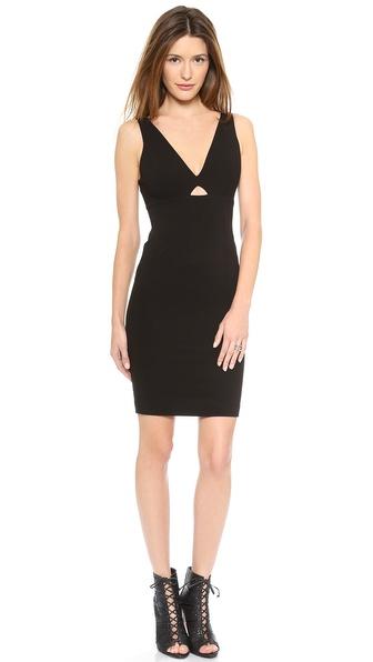 alice + olivia Yve Slim Cutout Dress