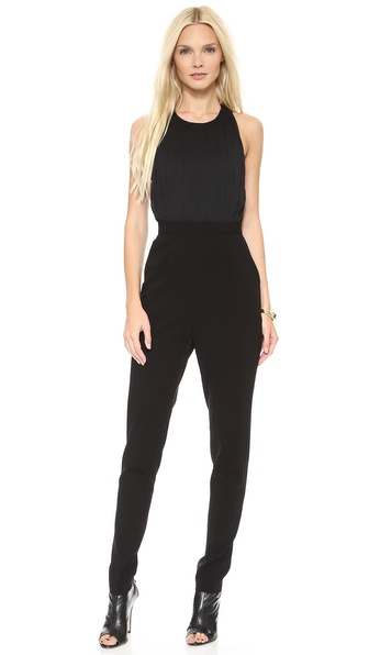 alice + olivia Angen Halter T Back Jumpsuit