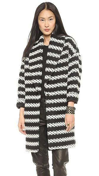 alice + olivia Ralter Oversized Drop Shoulder Coat