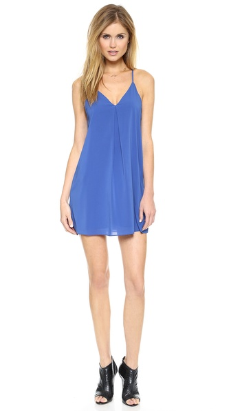 Shop alice + olivia online and buy Alice + Olivia Fierra Dress Cobalt - A simple alice + olivia slip dress has effortless appeal, detailed with a deep center pleat and slim Y back. Spaghetti straps. Lined. Fabric: Silk georgette. Shell: 96% silk/4% spandex. Lining: 97% polyester/3% spandex. Dry clean. Imported, China. Measurements Length: 34.75in / 88cm, from shoulder Measurements from size S. Available sizes: L,M,S,XS