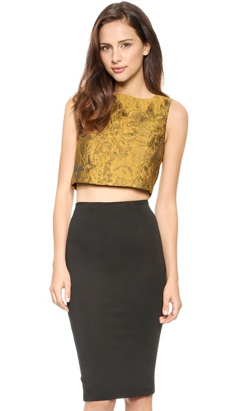alice + olivia Cerra Crop Top