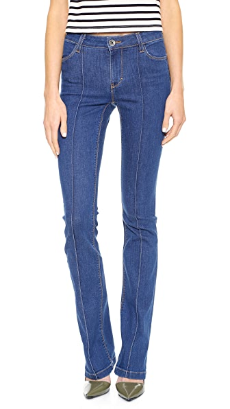 alice + olivia High Waisted Boot Cut Jeans