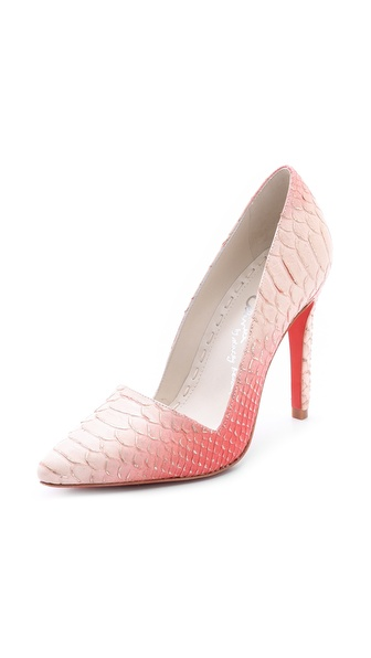 Alice + Olivia Dina Ombre Pumps - Natural/Coral at Shopbop / East Dane