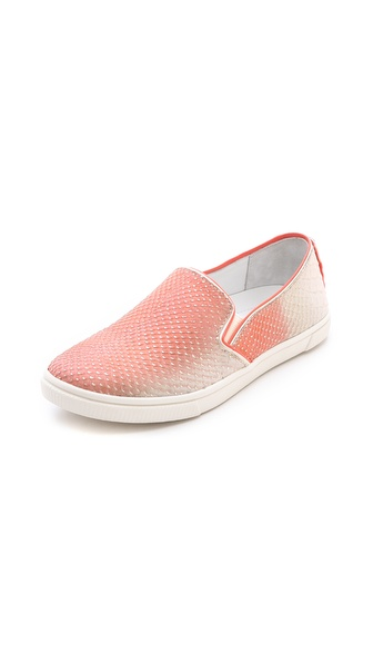 Alice + Olivia Pamela Ombre Slip On Sneakers - Natural/Coral at Shopbop / East Dane