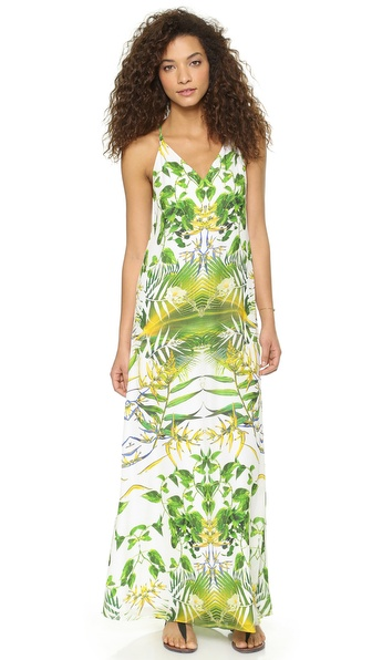 alice + olivia Dove Y Back Maxi Dress