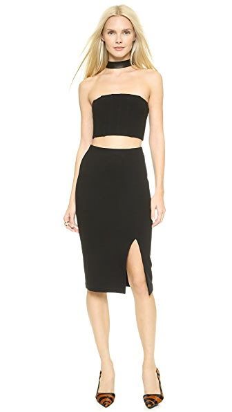 Alice + Olivia Evy Choker Dress - Black
