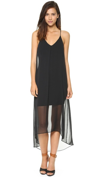 alice + olivia Vandy Long Pleat Dress