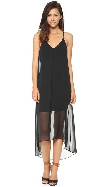 alice + olivia Vandy Long Pleat Dress