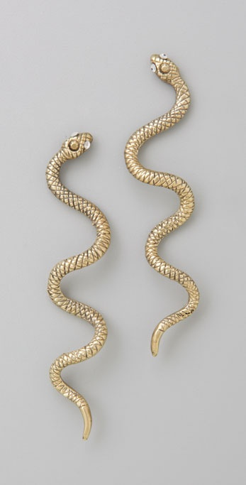 Alkemie Jewelry Long Snake Earrings