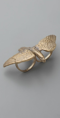Alkemie Jewelry Hawk Double Finger Ring