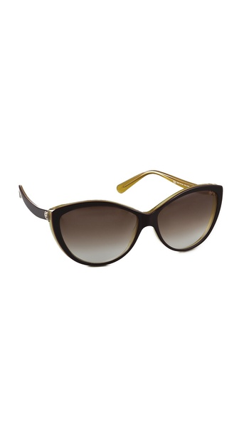 Alexander Mcqueen Cat Eye Sunglasses - Brown/Yellow at Shopbop / East Dane