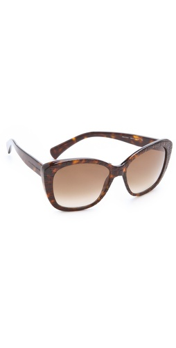 Alexander McQueen Textured Sunglasses from shotfashion.com