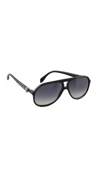 Alexander McQueen Plastic Aviators with Skull