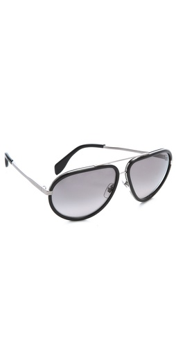 Alexander McQueen Oversized Aviator Sunglasses