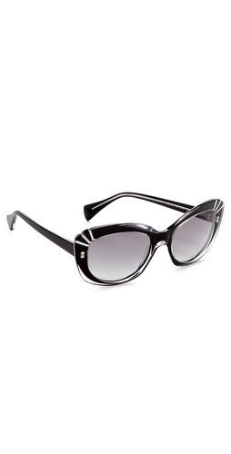 Alexander McQueen Statement Cat Eye Sunglasses