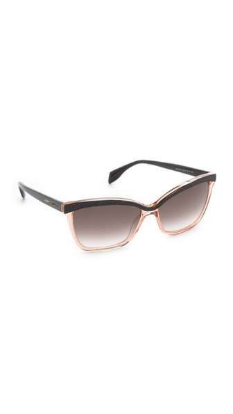 Alexander Mcqueen Two Tone Cat Eye Sunglasses - Black Nude/Gray at Shopbop / East Dane
