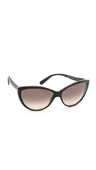 Alexander Mcqueen Oversized Cat Eye Sunglasses - Black Horn Black/Brown at Shopbop / East Dane