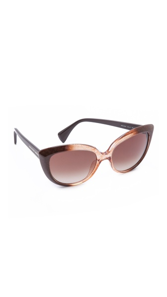 Alexander Mcqueen Cat Eye Sunglasses - Brown Honey/Brown Gradient at Shopbop / East Dane