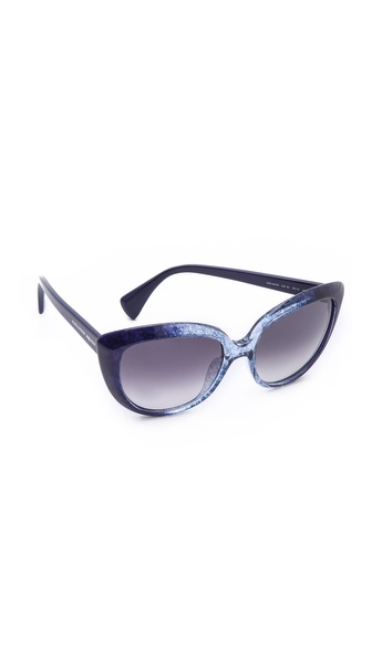 Alexander Mcqueen Cat Eye Sunglasses - Navy Blue/Dark Grey Gradient at Shopbop / East Dane