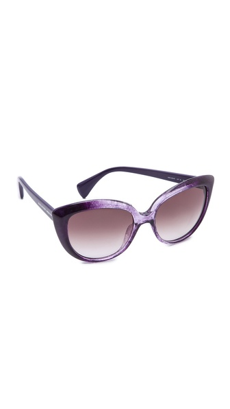 Alexander Mcqueen Cat Eye Sunglasses - Purple/Mauve Gradient at Shopbop / East Dane