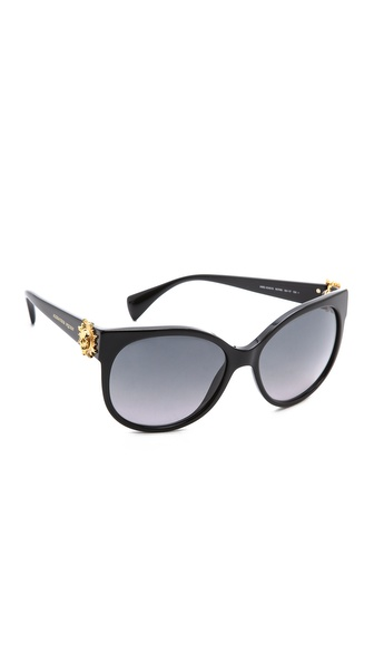 Alexander Mcqueen Classic Gradient Suglasses - Black/Grey Gradient at Shopbop / East Dane