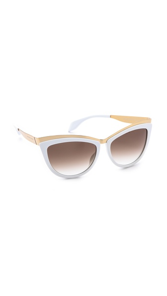 Alexander Mcqueen Cat Eye Sunglasses - Gold White/Brown Gradient at Shopbop / East Dane