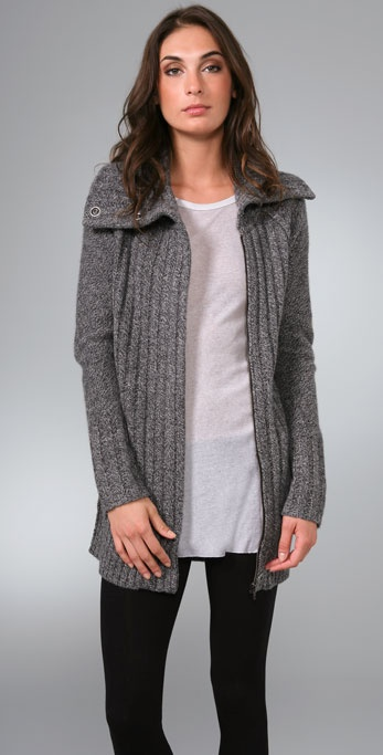 Ami Dans La Rue Funnel Neck Sweater Coat