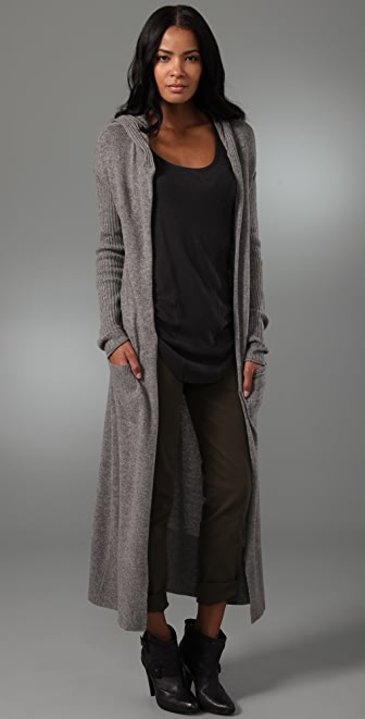 Ami Dans La Rue Hooded Duster Sweater