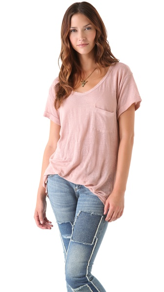 Ami Dans La Rue Pocket Cap Sleeve Tee