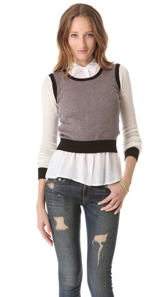 Ami Dans La Rue Soft Colorblock Pullover