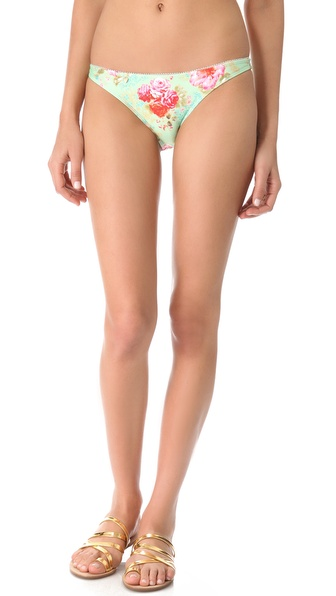 Amore & Sorvete Kelly Bikini Bottoms - Mint Floral at Shopbop / East Dane