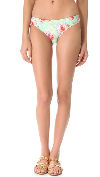 Amore & Sorvete Bolly Bikini Bottoms - Mint Floral at Shopbop / East Dane
