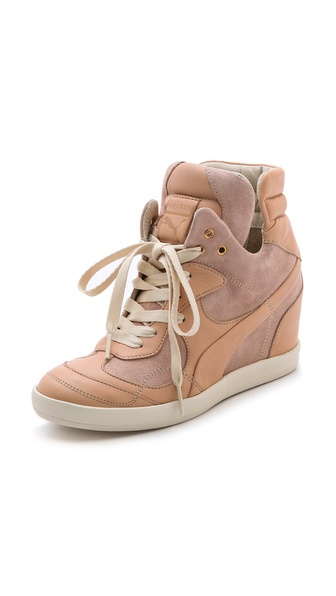 Alexander Mcqueen Puma Ofeya Hidden Wedge Sneakers - Toasted Almond at Shopbop / East Dane