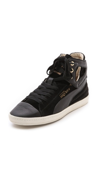 Alexander Mcqueen Puma Terena High Top Sneakers - Black at Shopbop / East Dane