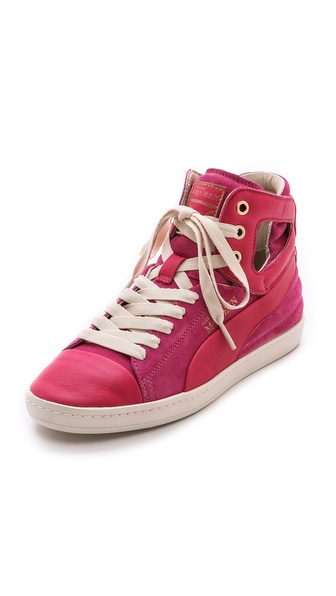 Alexander Mcqueen Puma Terena High Top Sneakers - Rose Red at Shopbop / East Dane