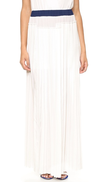 And B Blake Pleated Slit Skirt